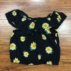 Abercrombie Kids Yellow Floral Ruffle Top 14